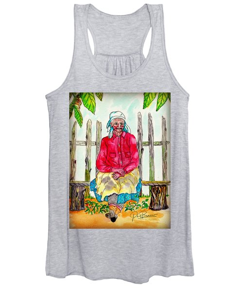Old Migrant Worker, Resting, Arcadia, Florida 1975 Women's Tank Top