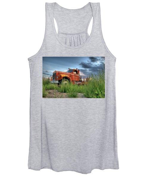 Orange Truck Women's Tank Top