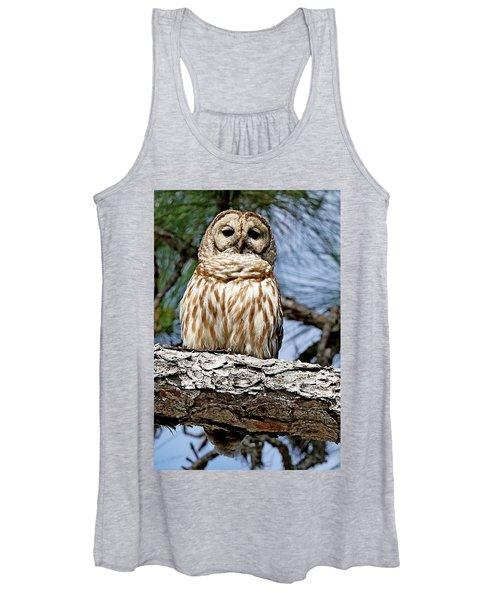 Owl In A Tree Women's Tank Top