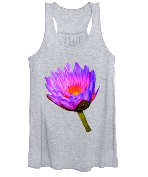 Pink Water Lily Women's Tank Top