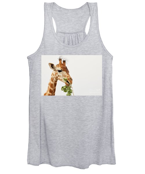 Portrait Of A Rothschild Giraffe  Women's Tank Top