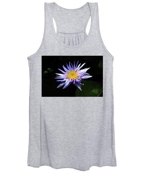 Purple Water Lily Women's Tank Top
