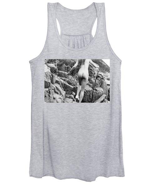 Running Nude Girl On Rocks Women's Tank Top