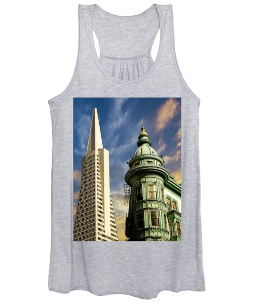 San Francisco Then And Now Women's Tank Top