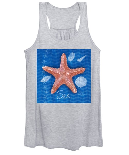Seashells On Blue-sea Women's Tank Top