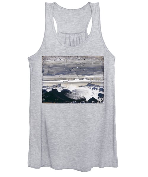 Stormy Sea Women's Tank Top