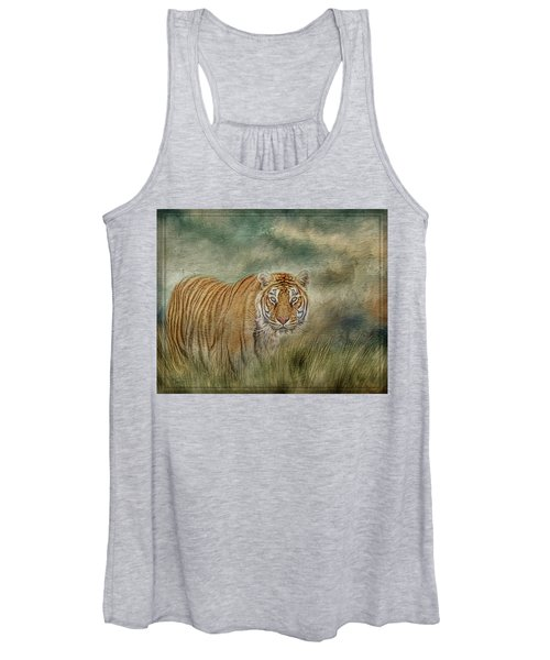 Tiger In The Grass Women's Tank Top