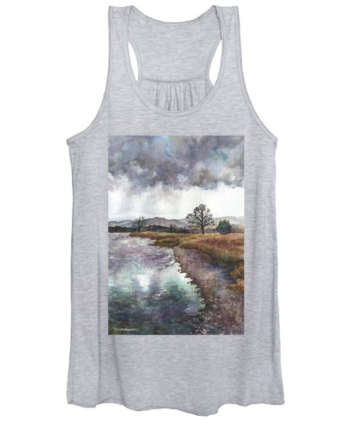 Walden Ponds On An April Evening Women's Tank Top