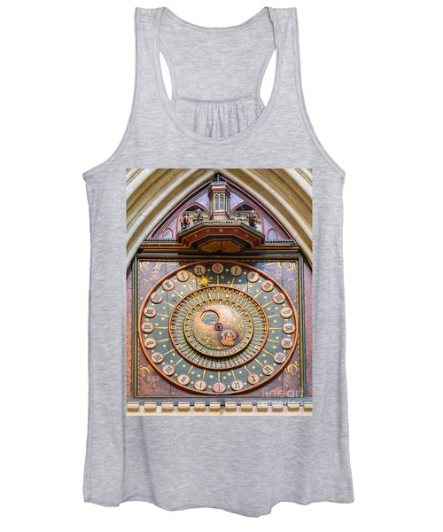 Wells Cathedral Clock Women's Tank Top