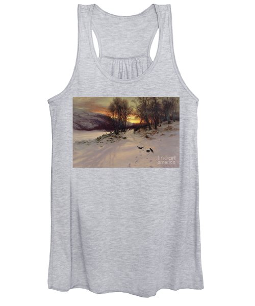 When The West With Evening Glows Women's Tank Top