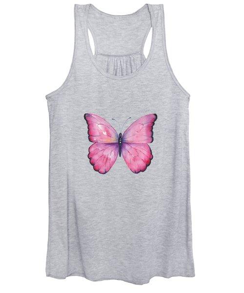 105 Pink Celestina Butterfly Women's Tank Top