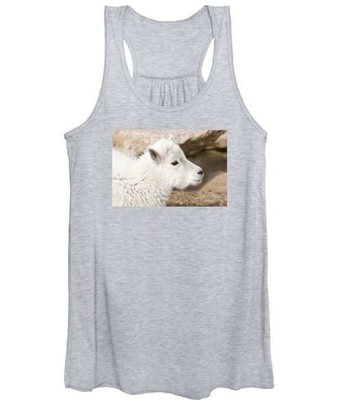 Baby Mountain Goats On Mount Evans Women's Tank Top