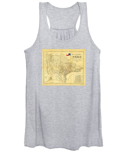 1849 Texas Map Women's Tank Top