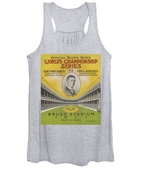 1911 World Series Score Card Women's Tank Top