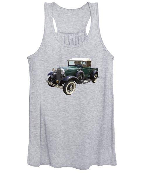 1930 Ford Model A Pickup Truck Women's Tank Top