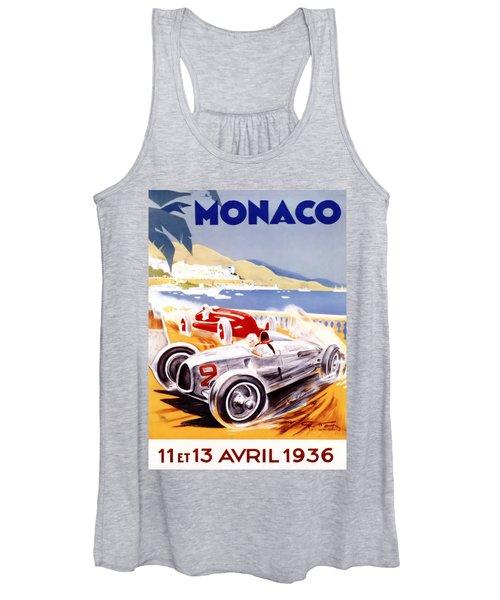 1936 F1 Monaco Grand Prix  Women's Tank Top
