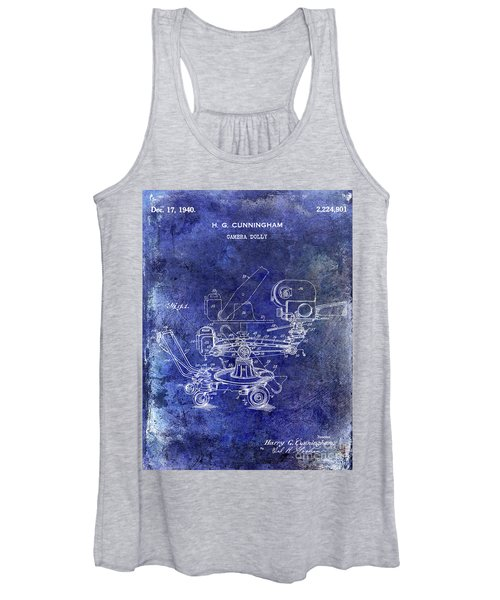 1940 Camera Dolly Patent Blue Women's Tank Top