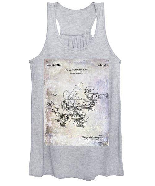1940 Camera Dolly Patent Women's Tank Top