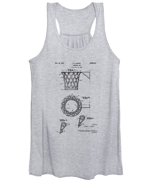 1951 Basketball Net Patent Artwork - Vintage Women's Tank Top