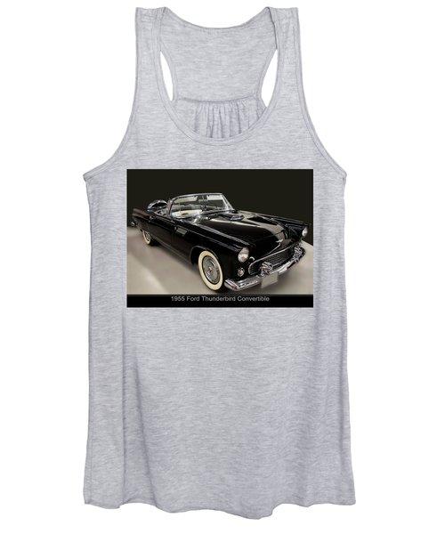 1955 Ford Thunderbird Convertible Women's Tank Top