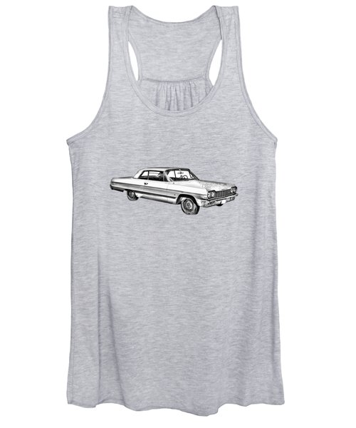 1964 Chevrolet Impala Car Illustration Women's Tank Top