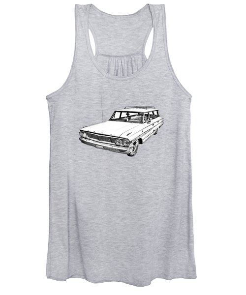 1964 Ford Galaxy Country Stationwagon Illustration Women's Tank Top