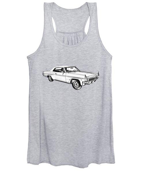 1965 Chevy Impala 327 Convertible Illuistration Women's Tank Top