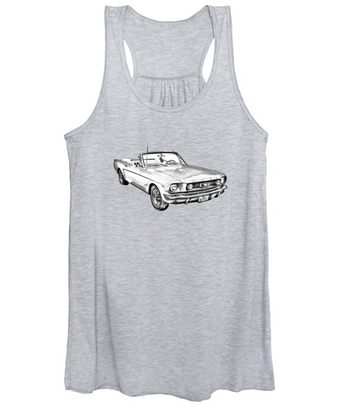 1965 Ford Mustang Convertible Illustration Women's Tank Top