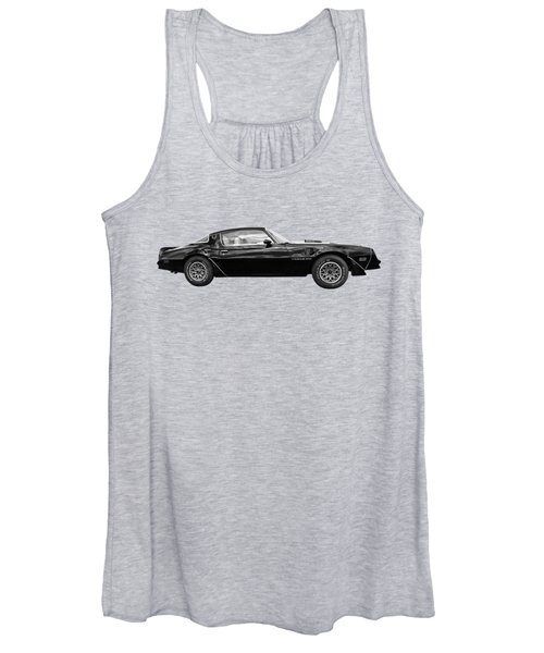 1978 Trans Am In Black And White Women's Tank Top