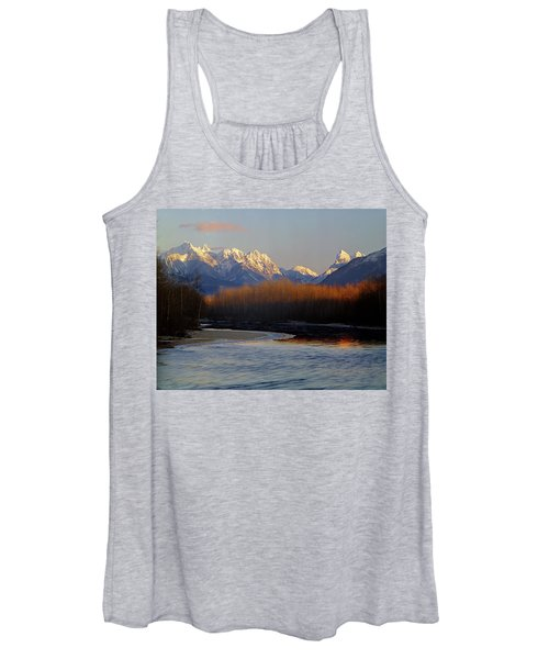 1m4525 Skykomish River And West Central Cascade Mountains Women's Tank Top