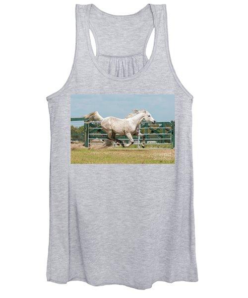 Arabian Horse Running Women's Tank Top