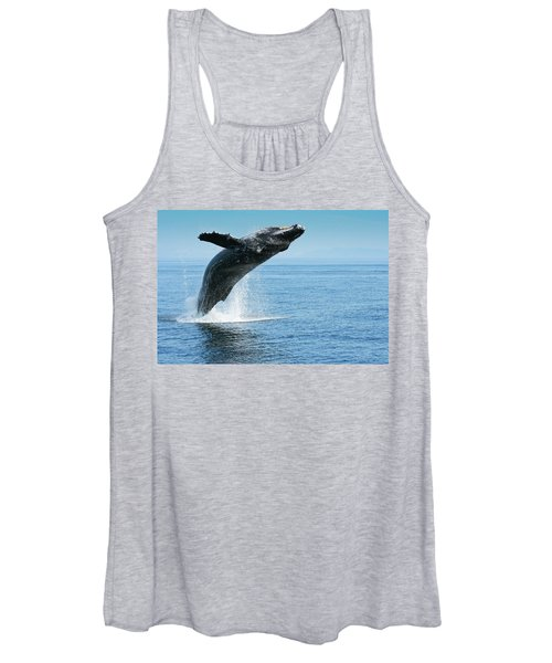 Breaching Humpback Whales Happy-1 Women's Tank Top