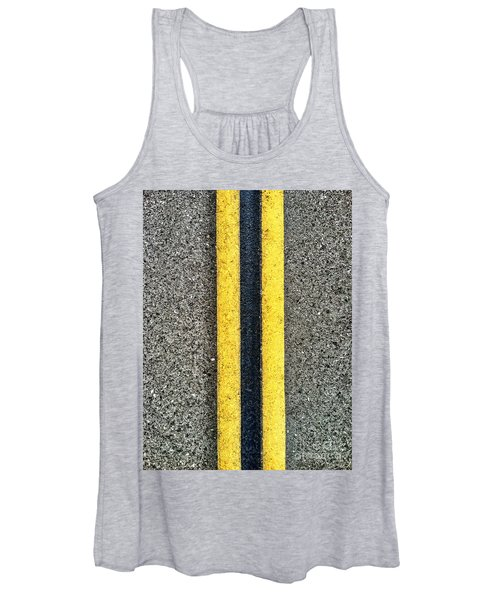 Double Yellow Road Lines Women's Tank Top