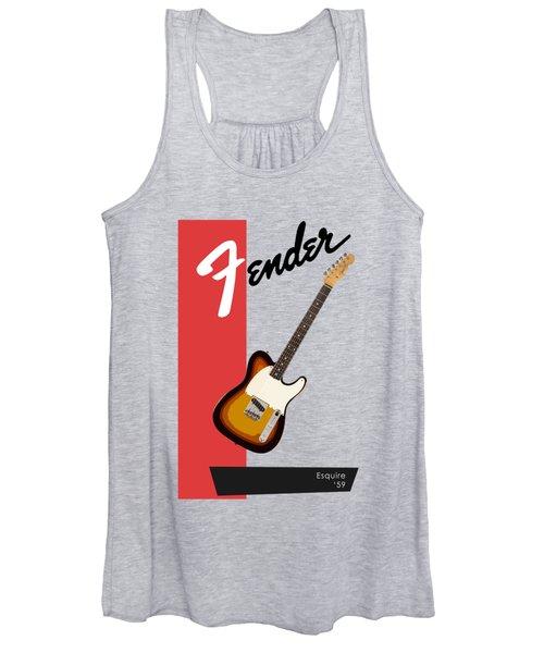 Fender Esquire 59 Women's Tank Top
