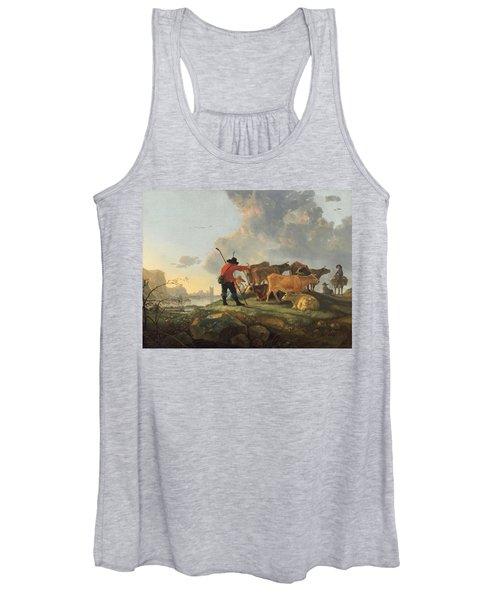 Herdsmen Tending Cattle Women's Tank Top