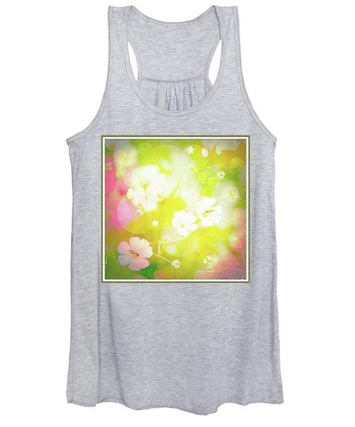 Summer Flowers, Baby's Breath, Digital Art Women's Tank Top