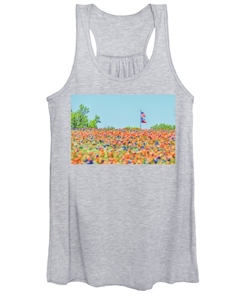 God Bless America And God Bless Texas Women's Tank Top