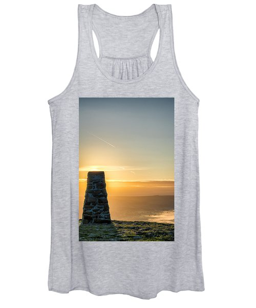 View Over The Hope Valley From Mam Tor At Dawn Women's Tank Top