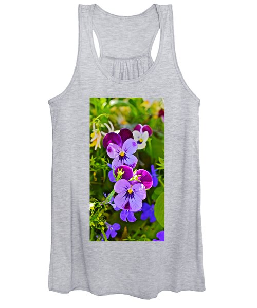 2015 Summer's Eve At The Garden Pansy Totem Women's Tank Top