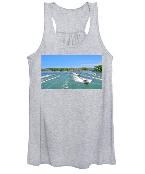 2017 Poker Run, Smith Mountain Lake, Virginia Women's Tank Top