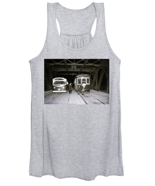 207th Street Crosstown Trolley Women's Tank Top