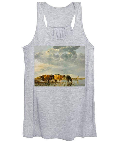 Cows In A River Women's Tank Top