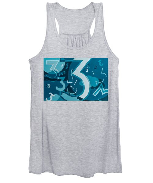 3 In Blue Women's Tank Top