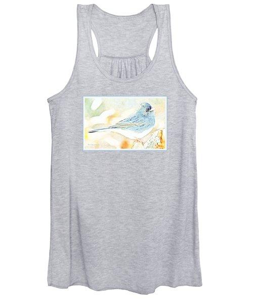 Slate-colored Junco, Snowbird, Male, Animal Portrait Women's Tank Top