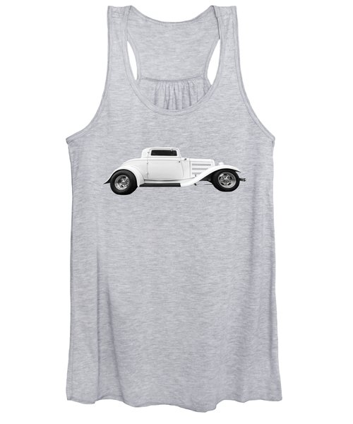 32 Ford Deuce Coupe In Black And White Women's Tank Top