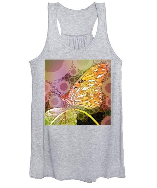 Bubble Art Butterfly Women's Tank Top