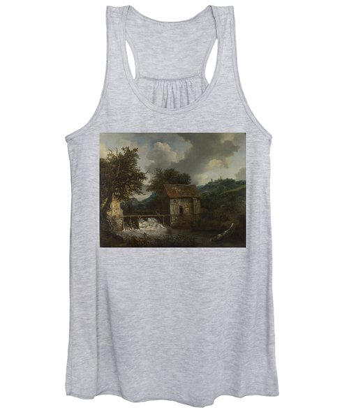 Two Watermills And An Open Sluice At Singraven Women's Tank Top