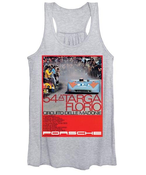 54th Targa Florio Porsche Race Poster Women's Tank Top