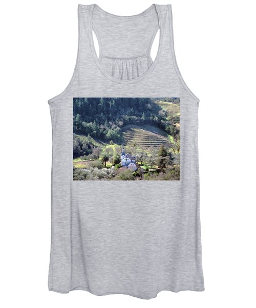 6b6312 Falcon Crest Winery Grounds Women's Tank Top