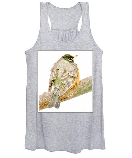 American Robin Male, Animal Portrait Women's Tank Top